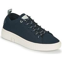 Schuhe Damen Sneaker Low Palladium Manufacture TEMPO 06 KNIT Marine