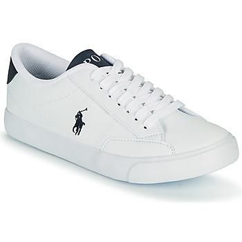 Schuhe Kinder Sneaker Low Polo Ralph Lauren THERON IV Weiss / Marine
