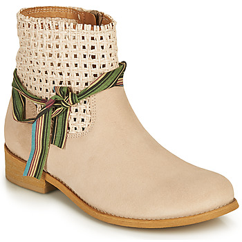 Schuhe Damen Boots Felmini BRENDA Beige