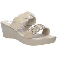 Schuhe Damen Pantoffel Susimoda 1440-01 Beige