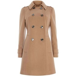 Kleidung Damen Mäntel Anastasia - Damen Winter Military Mantel Beige