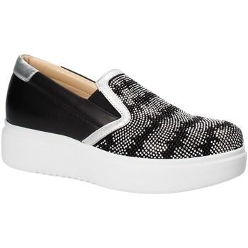 Schuhe Damen Slip on Exton E02 Schwarz