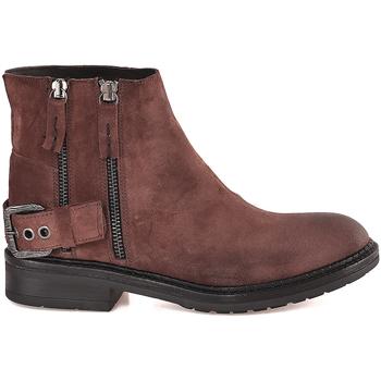 Schuhe Damen Low Boots Mally 6324 Braun