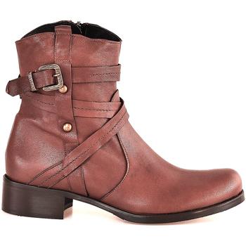 Schuhe Damen Low Boots Mally 6431 Braun