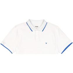 Kleidung Herren Polohemden Wrangler W7D5K4989 Weiß