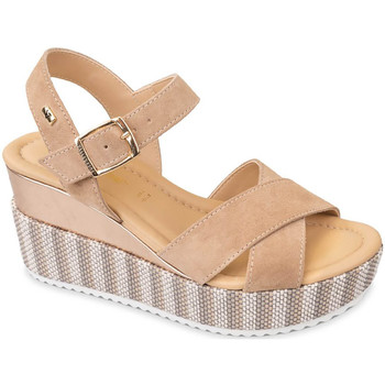 Schuhe Damen Sandalen / Sandaletten Valleverde 32435 Beige