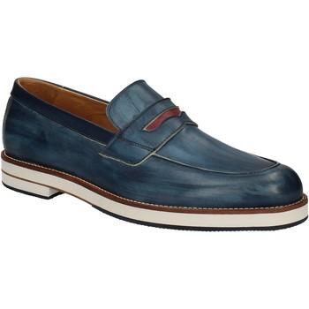 Schuhe Herren Slipper Exton 605 Blau