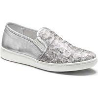 Schuhe Damen Slip on Keys 5051 Silber