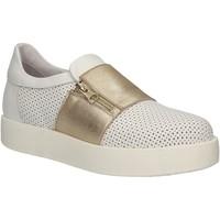 Schuhe Damen Slip on Exton 1904 Weiß