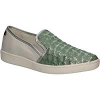 Schuhe Damen Slip on Keys 5051 Grün