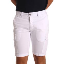 Kleidung Herren Shorts / Bermudas Sei3sei PZV130 7148 Weiß