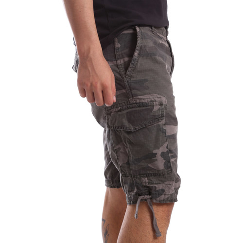 Ransom & Co. INDIANA-P142 Grau - Kleidung Shorts / Bermudas Herren 3835 bvlQn
