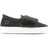 Schuhe Damen Slip on Date A251-SL-FU-BK Schwarz