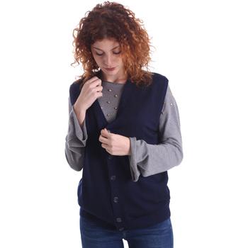 Kleidung Damen Strickjacken Wool&co WO0004 Blau