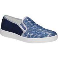 Schuhe Damen Slip on Keys 5051 Blau
