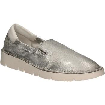 Schuhe Damen Slip on Keys 5075 Silber