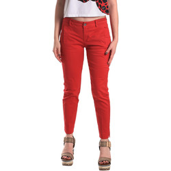 Kleidung Damen Chinohosen Fornarina BE171L74G29176 Rot