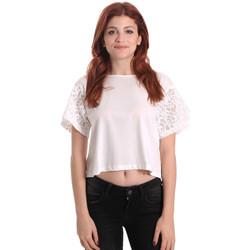 Kleidung Damen Tops / Blusen Fornarina BE175J88JG1309 Weiß