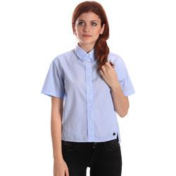 Kleidung Damen Hemden Fornarina SE174567CA1218 Blau