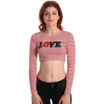 Kleidung Damen Langarmshirts Fornarina SE175L14JG0976 Rot