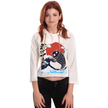 Kleidung Damen Sweatshirts Fornarina SE176842F42709 Weiß