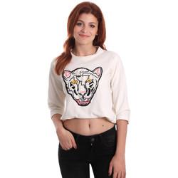 Kleidung Damen Sweatshirts Fornarina SE176844F42709 Weiß