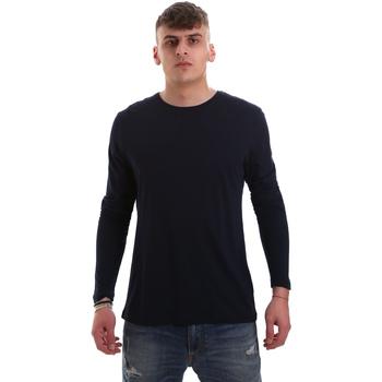 Kleidung Herren Langarmshirts Antony Morato MMKL00264 FA100066 Blau