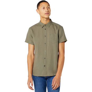 Kleidung Herren Kurzärmelige Hemden Wrangler W5J1LOX45 Grün