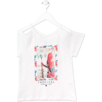 Kleidung Mädchen T-Shirts Losan 714 1026AB Weiß