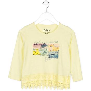 Kleidung Kinder Pullover Losan 714 1031AB Gelb