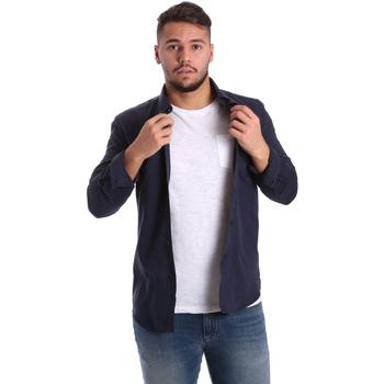 Kleidung Herren Langärmelige Hemden Antony Morato MMSL00408 FA400047 Blau