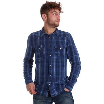 Kleidung Herren Langärmelige Hemden Gaudi 721BU46005 Blau