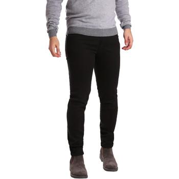 Kleidung Herren 5-Pocket-Hosen Sei3sei PZV17 7257 Schwarz
