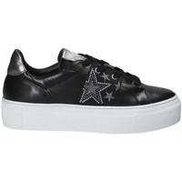 Schuhe Damen Sneaker Low Janet Sport 40914 Schwarz