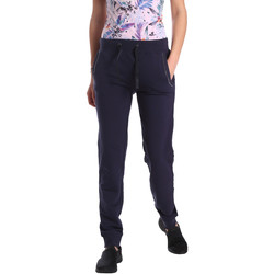 Kleidung Damen Jogginghosen Key Up GE42 0001 Blau