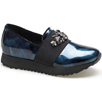 Schuhe Damen Slip on Apepazza MCT16 Blau