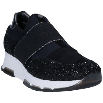 Schuhe Damen Slip on Keys 7063 Schwarz