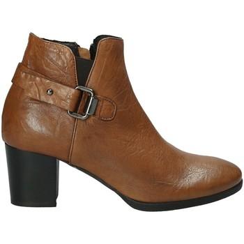 Schuhe Damen Low Boots Mally 5404 Braun