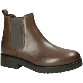 Schuhe Damen Low Boots Mally 5535J Braun