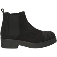 Schuhe Damen Low Boots Mally 5536 Schwarz