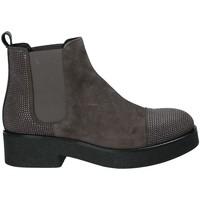 Schuhe Damen Low Boots Mally 5536 Braun