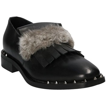 Schuhe Damen Slipper Mally 5970 Schwarz