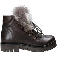 Schuhe Damen Boots Mally 5985 Braun