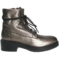 Schuhe Damen Low Boots Mally 6005 Grau