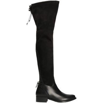 Schuhe Damen Kniestiefel Mally 6077-1 Schwarz