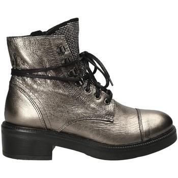 Schuhe Damen Low Boots Mally 6019 Grau