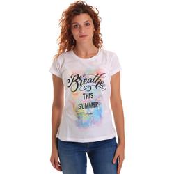 Kleidung Damen T-Shirts Key Up 5D59S 0001 Weiß