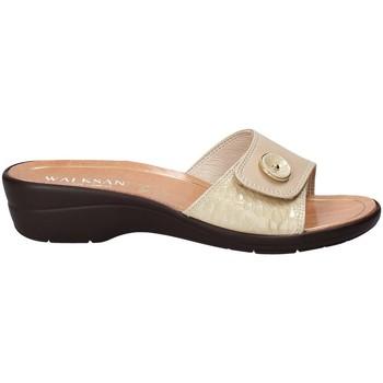 Schuhe Damen Pantoffel Susimoda 1651-01 Beige