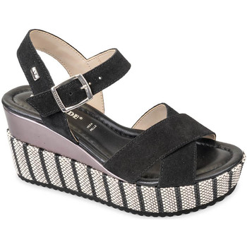 Schuhe Damen Sandalen / Sandaletten Valleverde 32435 Schwarz