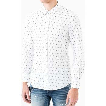 Kleidung Herren Langärmelige Hemden Antony Morato MMSL00425 FA430306 Weiß